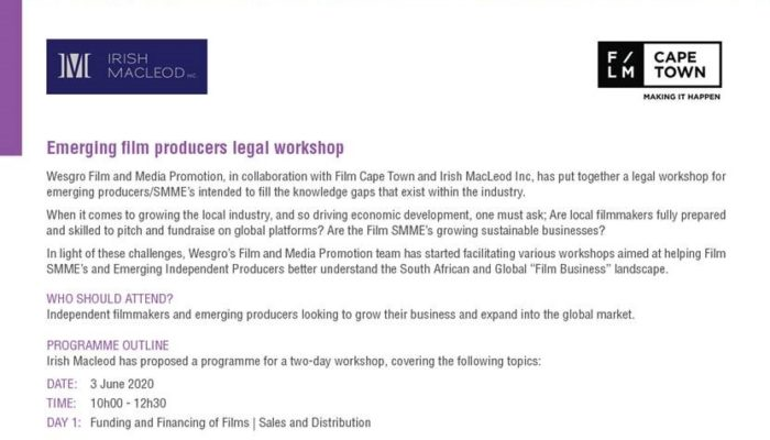 Emerging film producers legal workshop